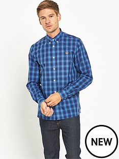 fred-perry-tartan-gingham-mix-shirt