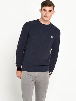 fred-perry-textured-yarn-crew-neck-jumper