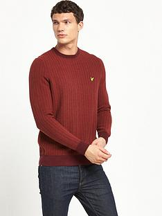 lyle-scott-herringbone-crew-neck-jumper