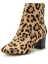 Dune Pebbles leopard print ankle boot