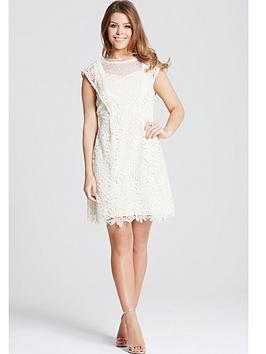 little-mistress-little-mistress-cream-crochet-and-lace-mini-dress