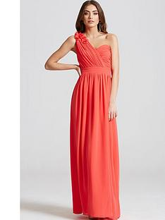 little-mistress-corsage-pleated-maxi-dress