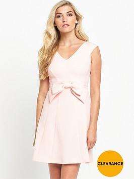 coast-mayra-bow-jacquard-dress-blush