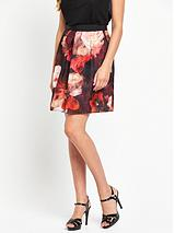 Stacey Print A-Line Skirt