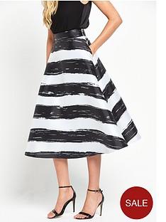 coast-full-stripe-skirt-mono