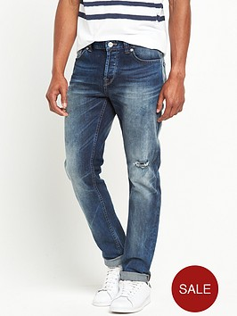 only-sons-distressed-loom-slim-jeans