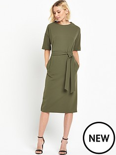 warehouse-drop-sleeve-pocket-dress