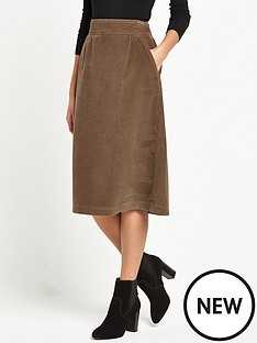warehouse-cord-midi-skirt