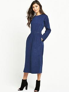 warehouse-denim-midi-dress