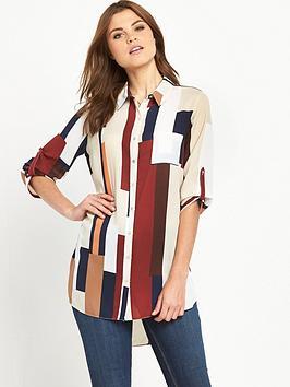 wallis-patchwork-colourblock-shirt