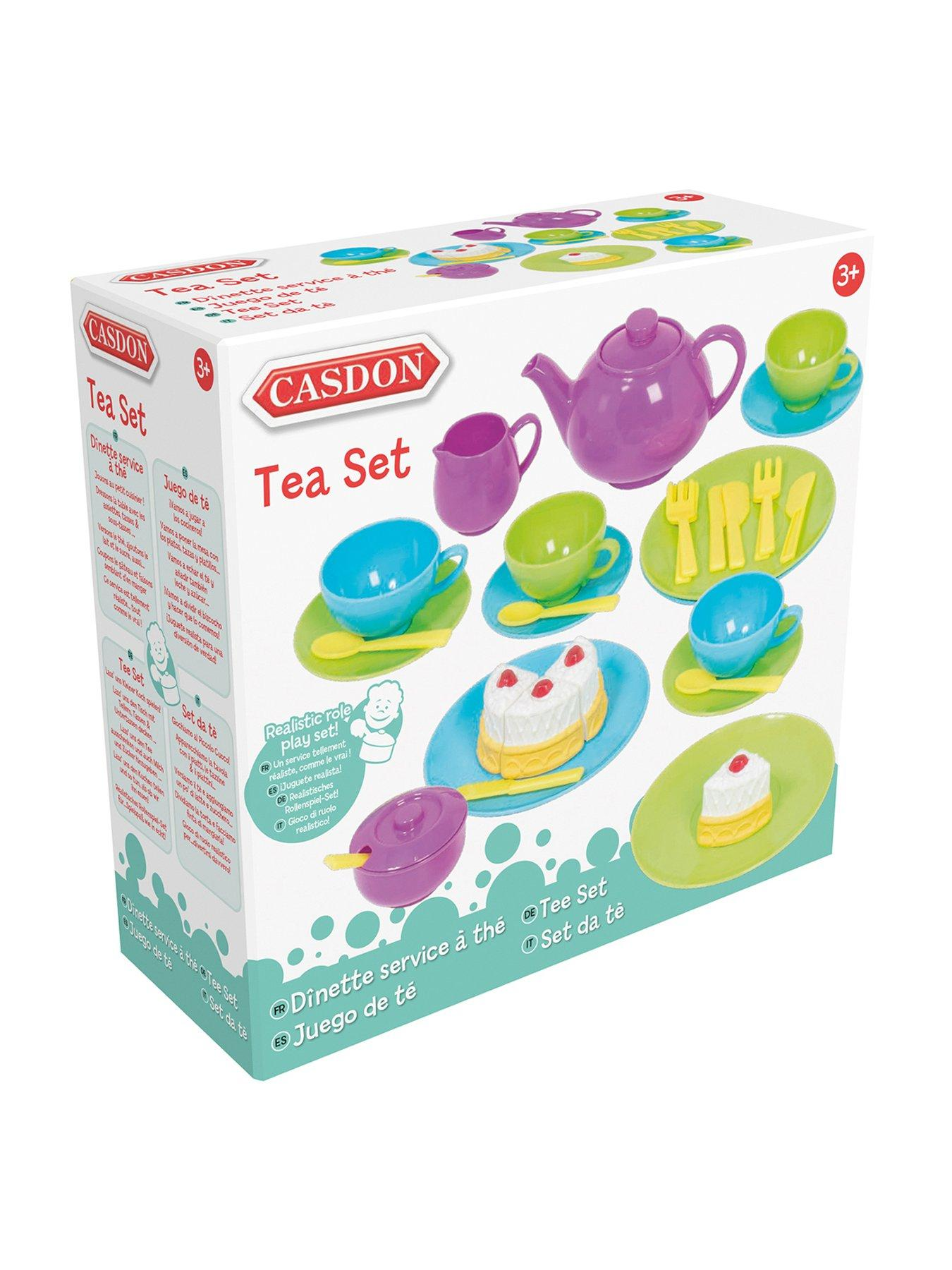New Girls Dinnerware Tea Set Toy Complete 34 Piece Tea Party Set Role Play Gift