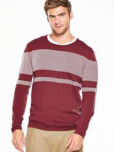 v-by-very-chest-stripe-textured-jumper