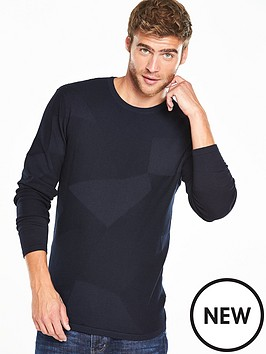 v-by-very-textured-pattern-crew-neck-jumper