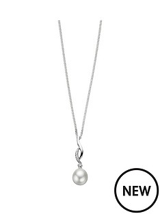 elements-sterling-silver-cubic-zirconianbspand-pearl-twist-pendant