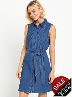 miss-selfridge-pintuck-detail-utility-denim-shirt-dress