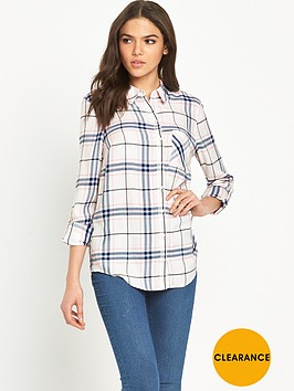 miss-selfridge-check-shirt