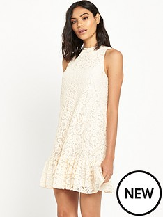 miss-selfridge-lace-dropped-hem-dress