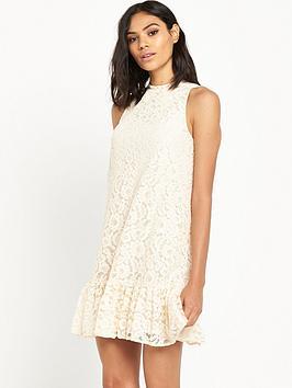 miss-selfridge-lace-dropped-hem-dress
