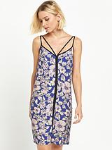 Printed Cami Dress With Tipping