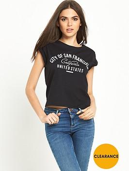miss-selfridge-california-slogan-t-shirtnbsp