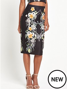 miss-selfridge-tropical-print-pencil-skirt