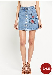 miss-selfridge-floral-embroidered-denim-skirt