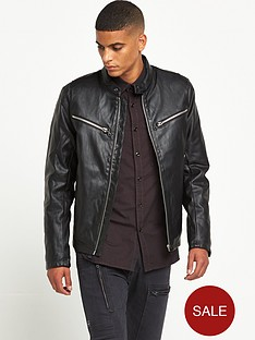 g-star-raw-mower-faux-leather-biker-jacket-black