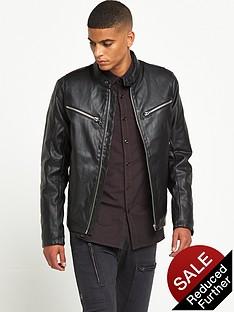g-star-raw-mower-faux-leather-biker-jacket-black