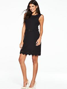 oasis-scallop-hem-dress-black