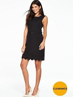 oasis-scallop-hem-dress-black