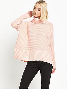 miss-selfridge-miss-selfridge-chunky-pointelle-roll-neck-jumper