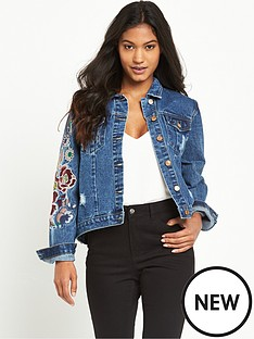 glamorous-embroidered-floral-denim-jacket