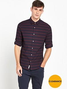 original-penguin-penguin-horizontal-stripe-shirt-with-roll-cuff