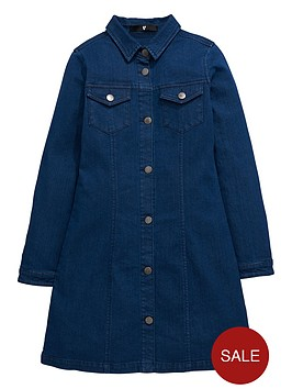 v-by-very-girls-denim-button-through-brittany-dress
