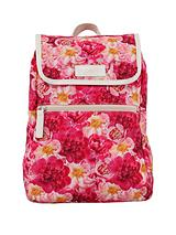 Peonies Print Mini Backpack