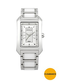 karen-millen-karen-millen-silver-plated-stainless-steel-crystal-set-square-ladies-watch