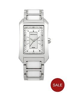 karen-millen-karen-millen-silver-plated-stainless-steel-crystal-set-square-ladies-watch
