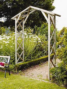 forest-honeysuckle-wooden-garden-arch