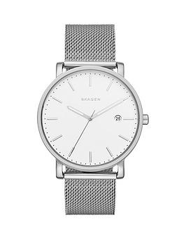 skagen-hagen-white-dial-silver-tone-stainless-steel-mesh-bracelet-mens-watch