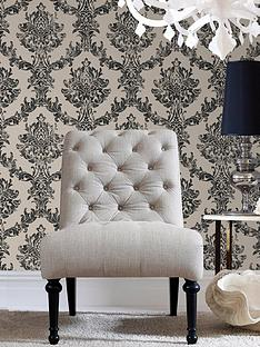 graham-brown-opal-damask-wallpaper-charcoalgold