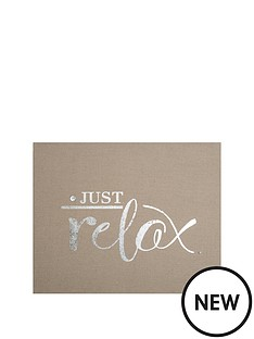 graham-brown-just-relax-embellished-fabric-canvas-50x40cms