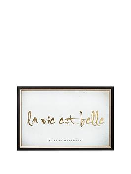 graham-brown-la-vie-est-belle-metallic-framed-print-ndash-60-x-40-cm
