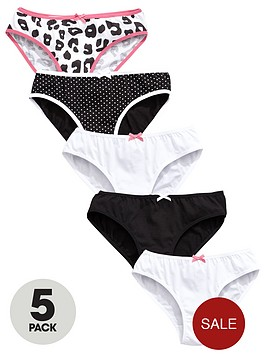 v-by-very-girls-monochrome-animal-briefs-5-pack