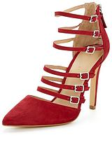 Alyce Strappy Point Shoes - Red