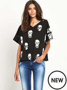 replay-skull-print-t-shirtnbsp