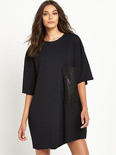 replay-replay-oversized-glitter-t-shirt-dress