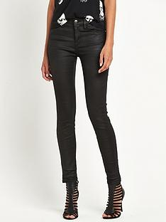 replay-replay-joi-waxed-coated-high-waisted-skinny-jean-black