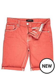 river-island-boys-red-turn-up-shorts