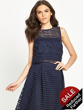 warehouse-grid-lace-top