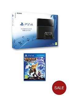 playstation-4-1tb-console-with-ratchet-clank-and-optional-extra-controller-andor-12-months-psn-subscription